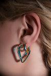 The Perfect Huggie Earring with Light Blue Enamel