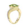 Modern Ring featuring a Mint Tourmaline with Diamond Pave