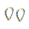 Cobra Hoop Earrings with Dark Blue Enamel