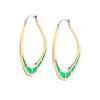 Cica Earrings with Green Enamel