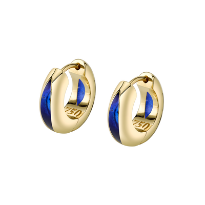 The Perfect Huggie Earring with Blue Enamel