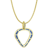 Cobra Pendant with Blue Enamel and Diamond Pave