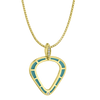 Cobra Pendant with Light Blue Enamel and Diamond Pave