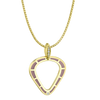 Cobra Pendant with Purple Enamel and Diamond Pave