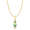 Etta Pendant with Green Enamel and Diamond Pave