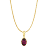 Genesis Necklace featuring a Grape Garnet