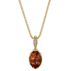 Genesis Necklace featuring a Tourmaline with Diamond Pave