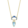 Precision Cut Necklace / Aquamarine with Windows