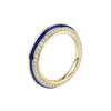 Sima Ring with Blue Enamel and Diamond Pave
