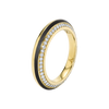 Sima Ring with Black Jade Inlay and Diamond Pave
