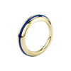 Sima Ring with Blue Enamel