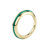 Sima Ring with Green Enamel