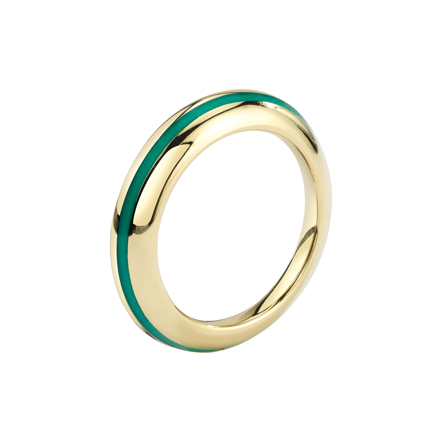 Sima Ring with Light Blue Enamel