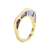 Cobra Ring with Amethyst Inlay