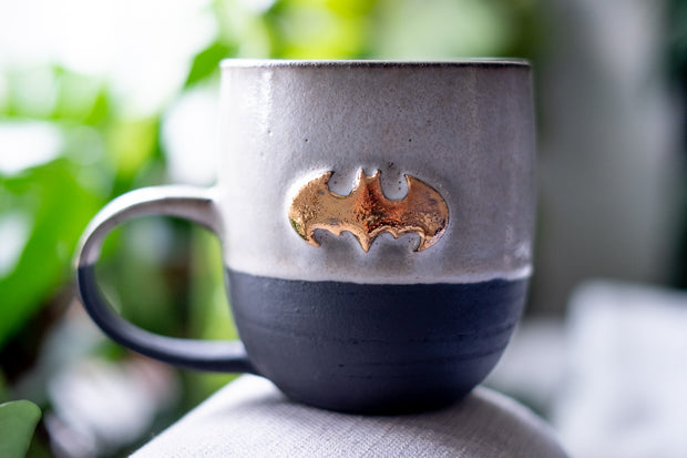 Batman 18K Gold Black Porcelain Mug