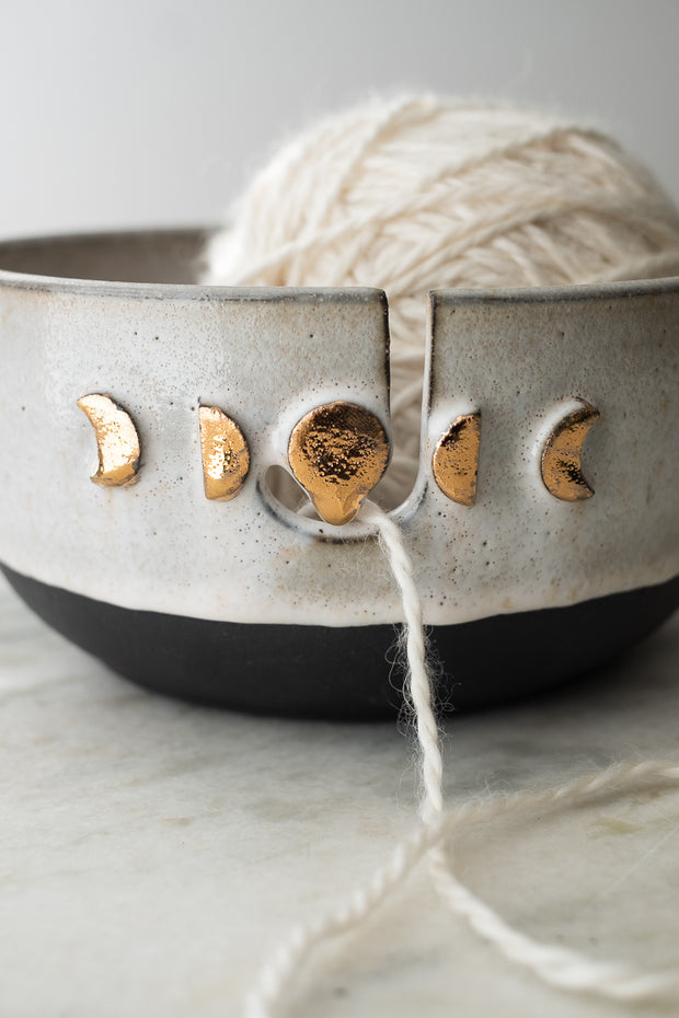 Drippy Moon Phase Knitting Bowl