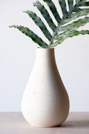 Limited Tall Round Vase in Raw Speckle