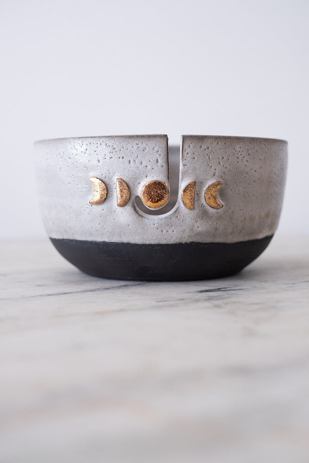 Moon Phase Knitting Bowl