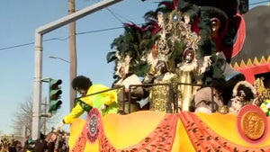 Mardi Gras celebrations got off to a colorful start in New Orleans