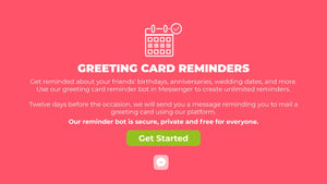 Greeting Card Reminder Bot