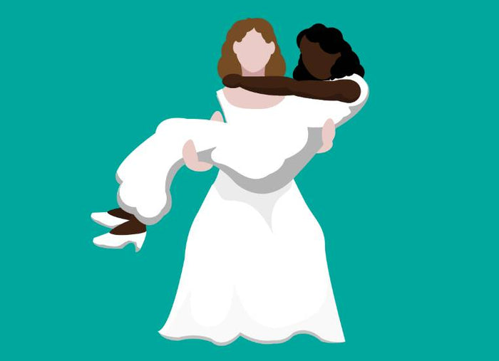 Bride & Bride (Interracial)