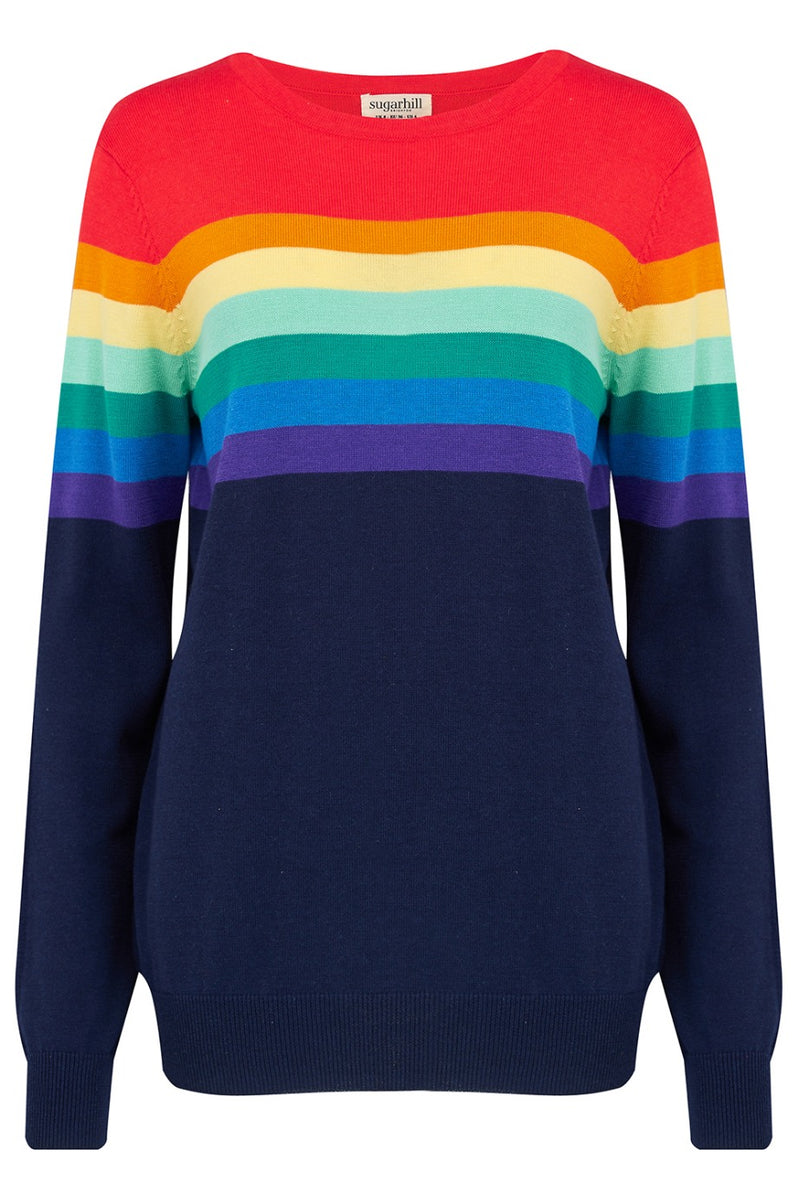 Rita Retro Gradient Stripe Sweater