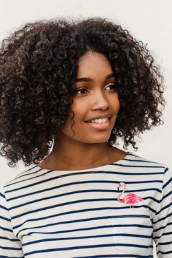 Brighton Embroidered Flamingo Top