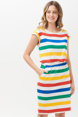 Kate Bold Rainbow Stripe Dress