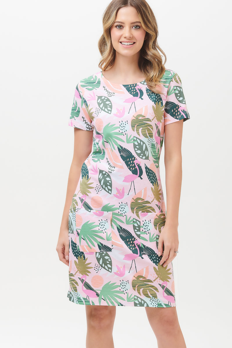 Ariane Miami Flamingo Tunic Dress