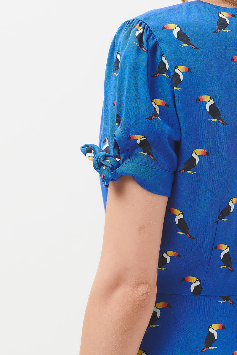 Maryana Rainbow Toucan Fit & Flare Dress