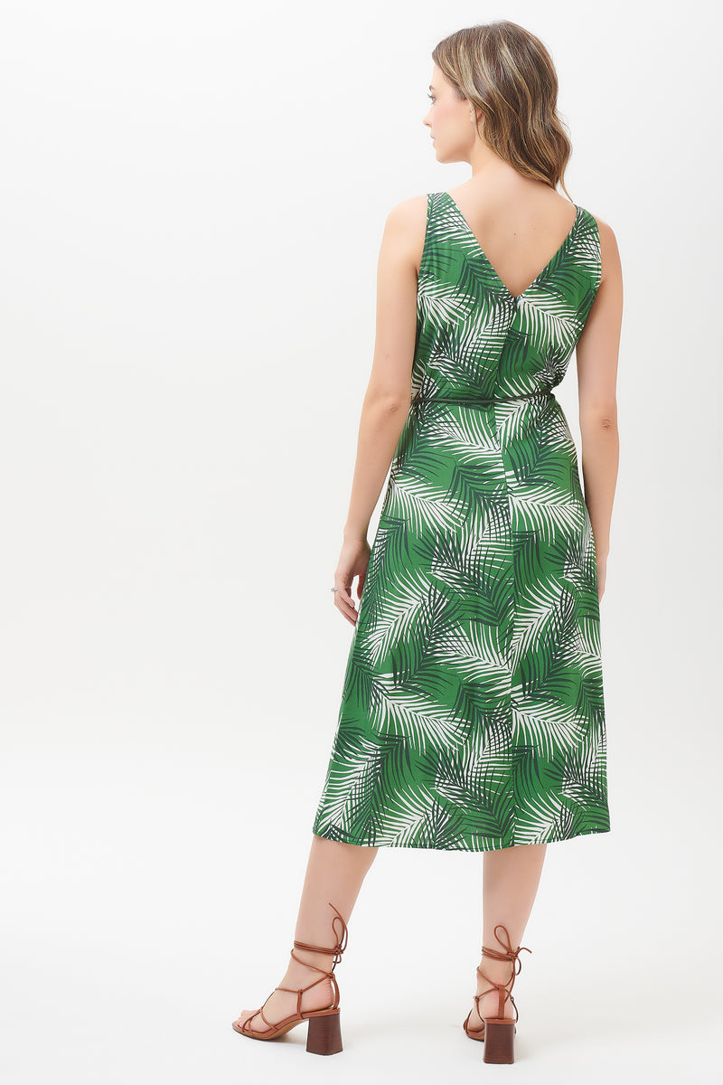 Fredrika Shady Palm Midi Slip Dress #WearAndCare