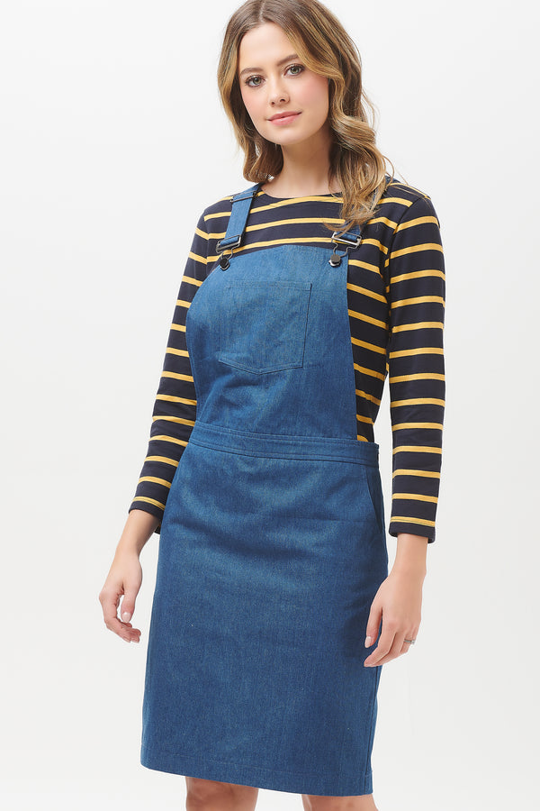 Toni Chambray Apron Dungaree Dress