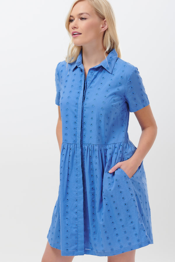 Keeley Broderie Shirt Dress