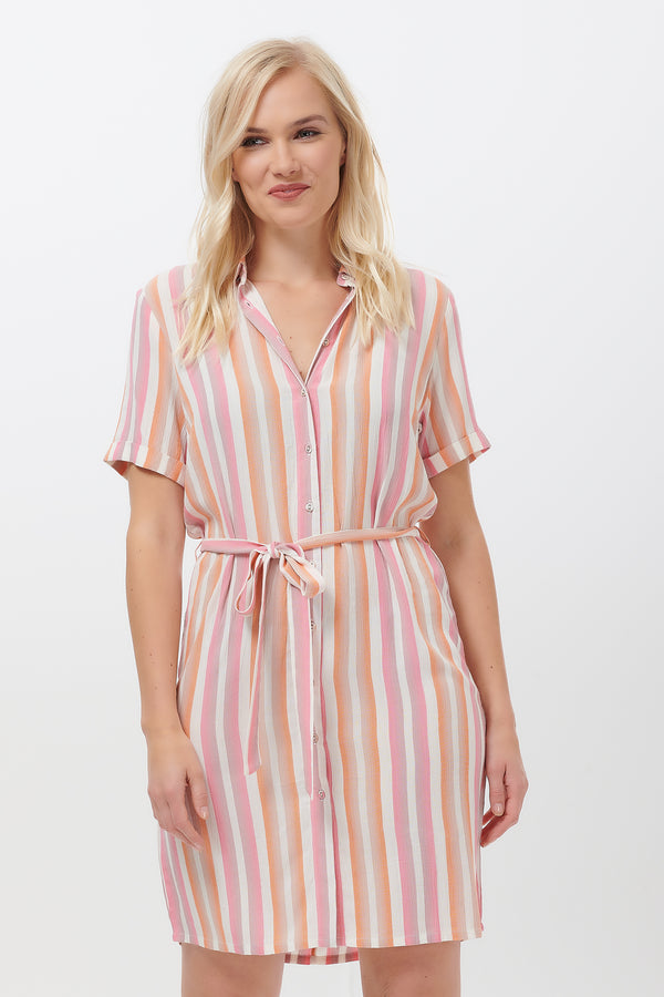 Jojo Ombre Stripe Shirt Dress #WearAndCare