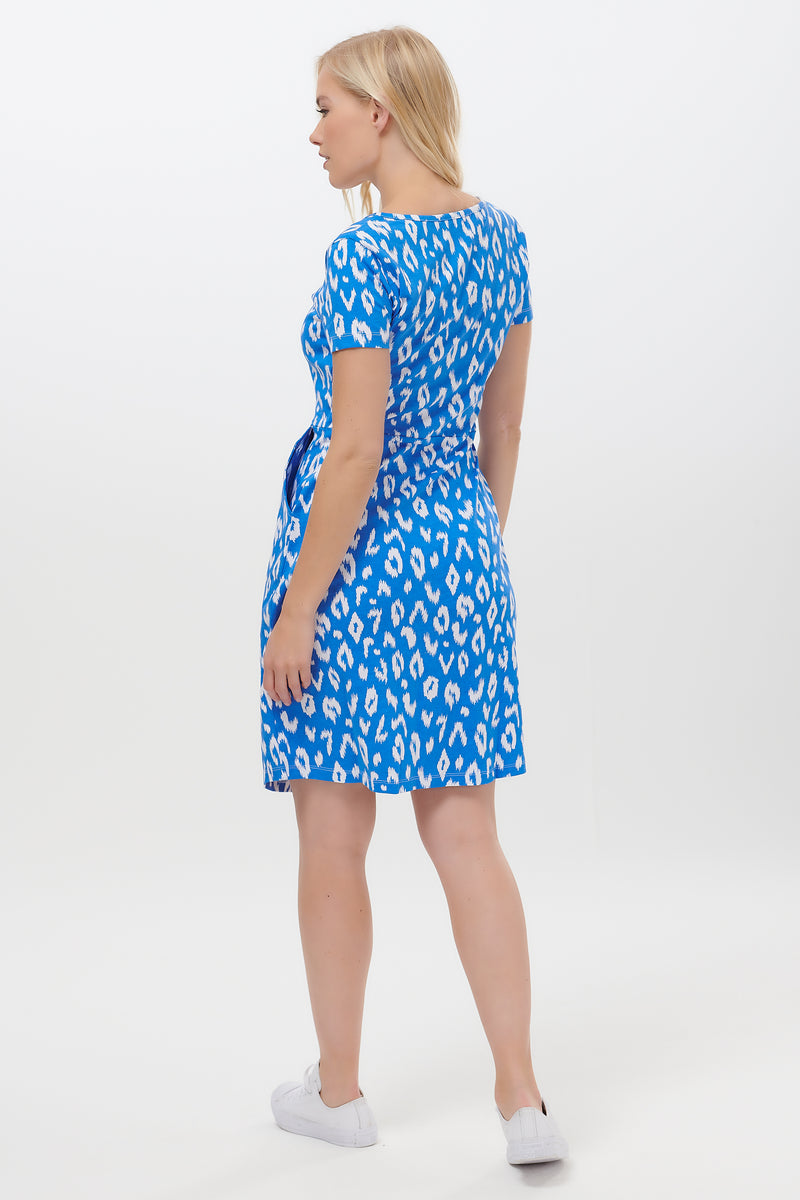 Liliana Ikat Leopard Jersey Dress