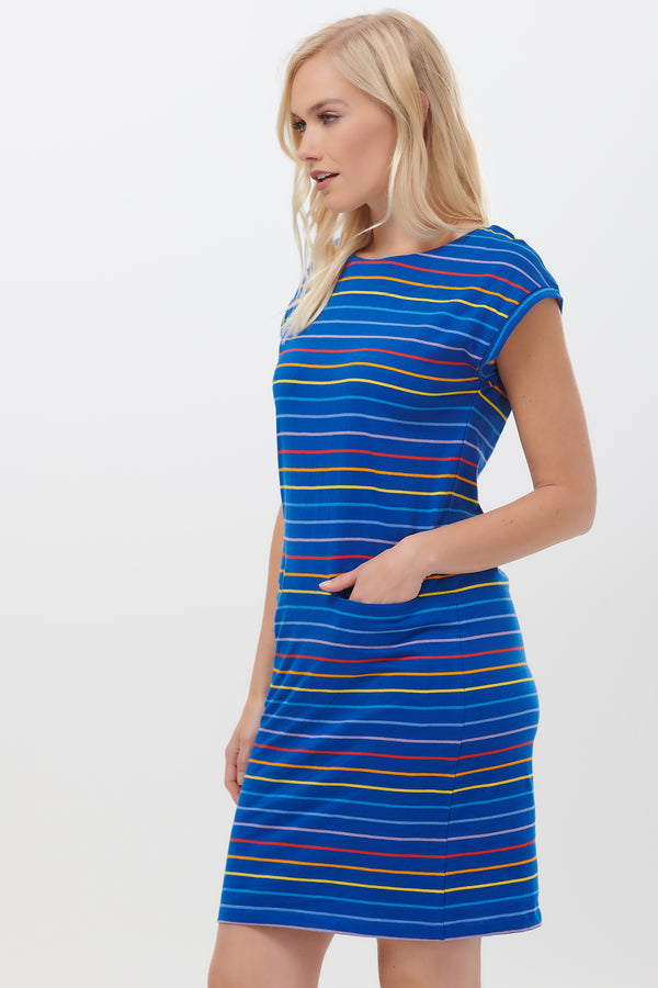 Odette Sunrise Stripe Tunic Dress #wearandcare