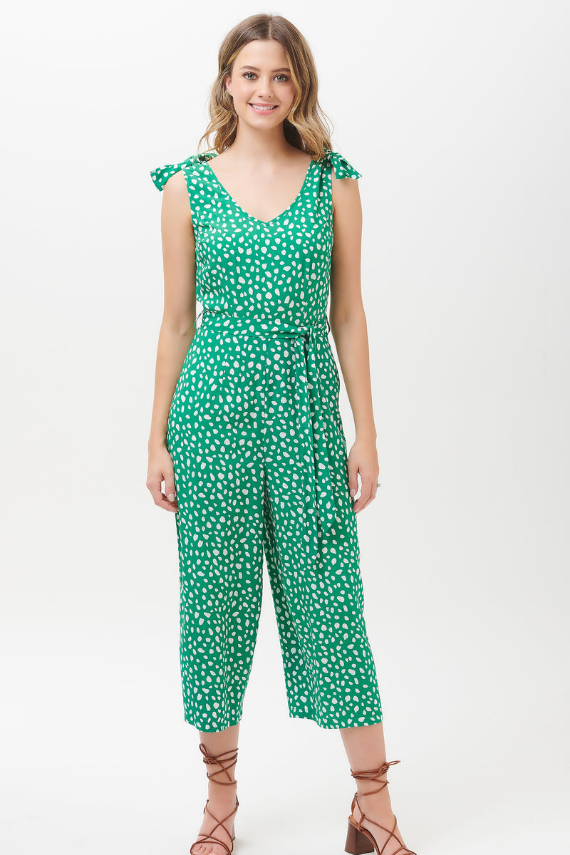Athina Painterly Spot Culotte Jumpsuit
