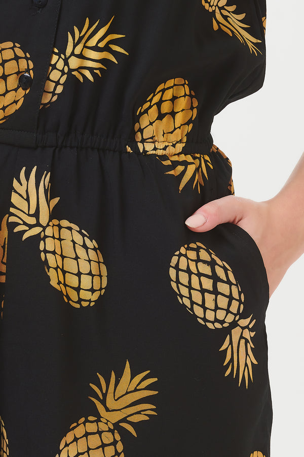 Clara Pineapple Batik Playsuit