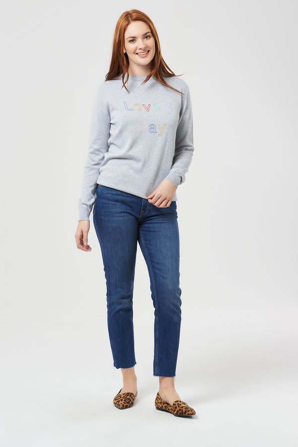 Rita Lovely Day Grey Sweater