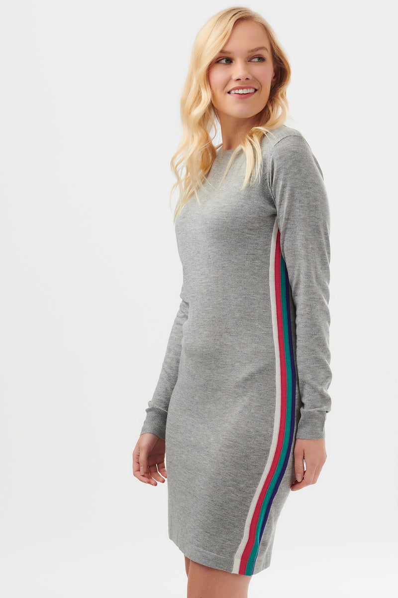 Evie Side Stripe Knit Dress