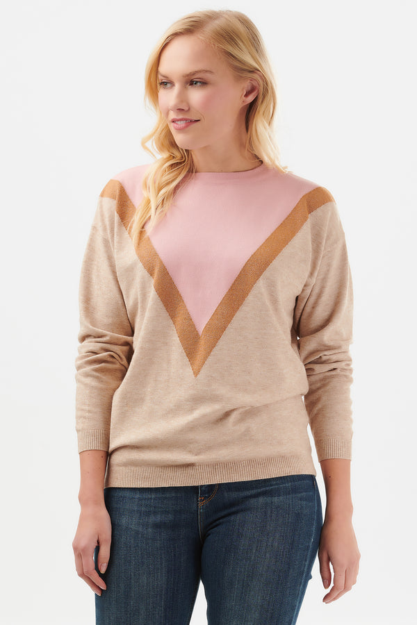Lally Lurex Chevron Sweater