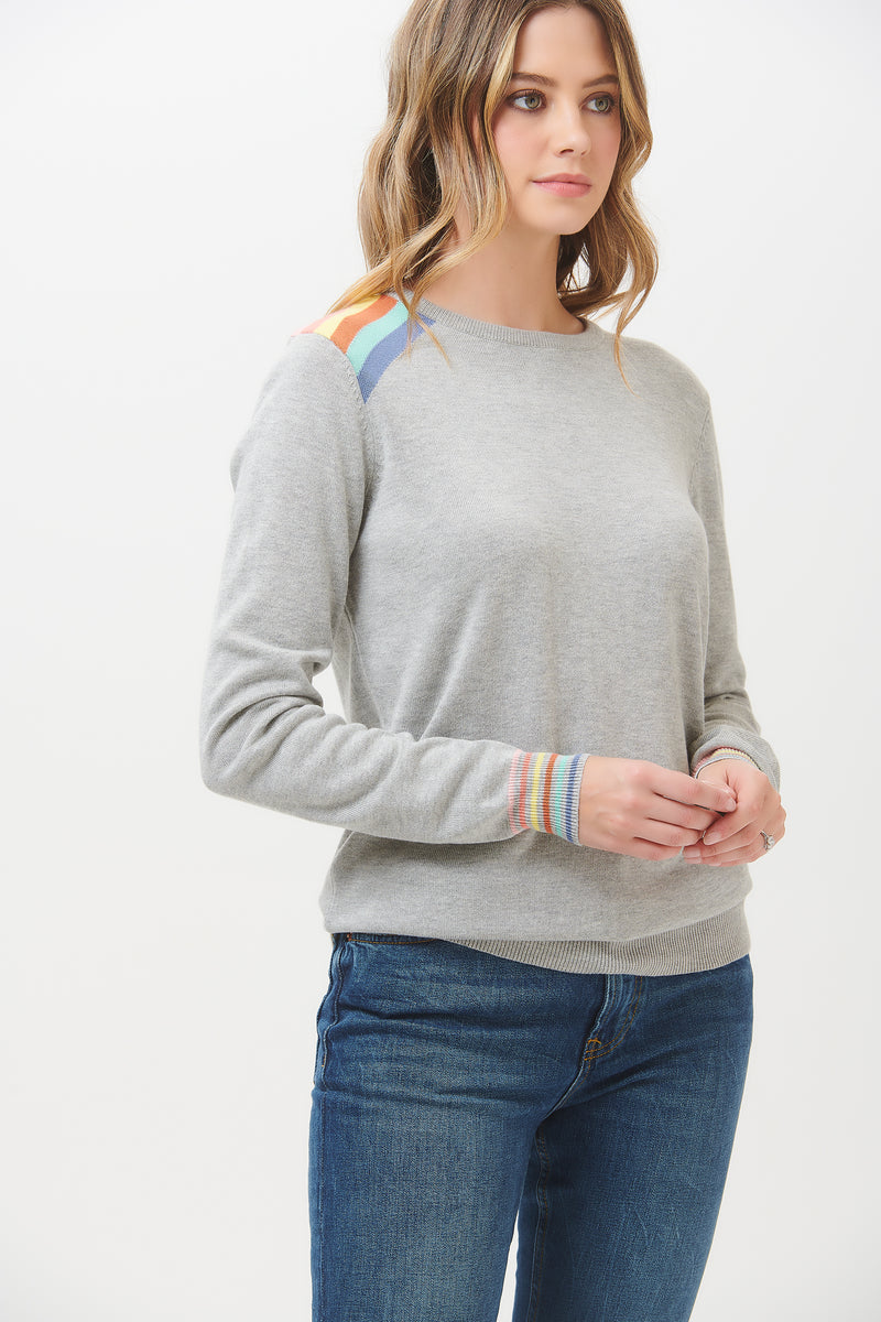 Rita Light Prism Rainbow Sweater