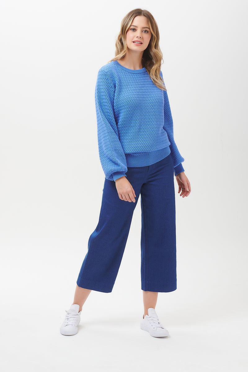 Seren Lattice Balloon Sleeve Sweater