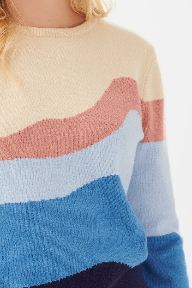 Poppy Mountain Seascape Sweater