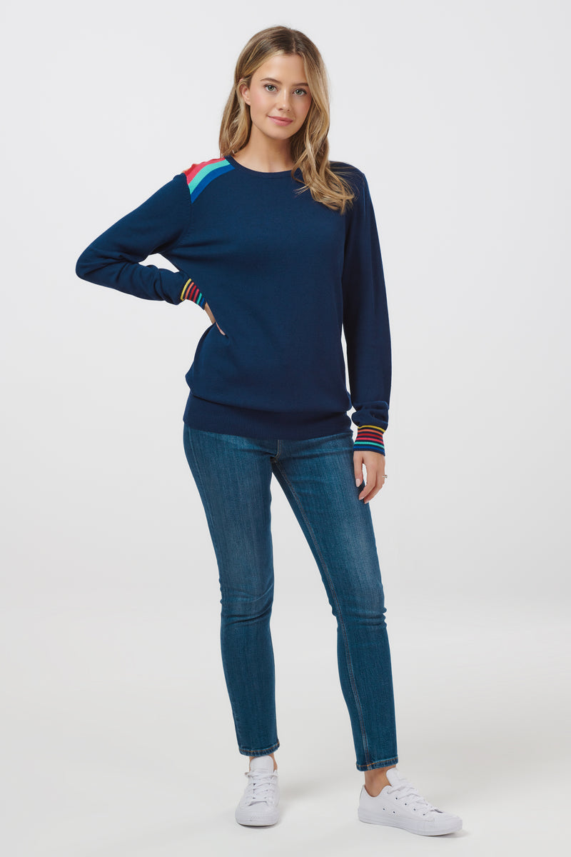 Rita Dark Prism Rainbow Sweater