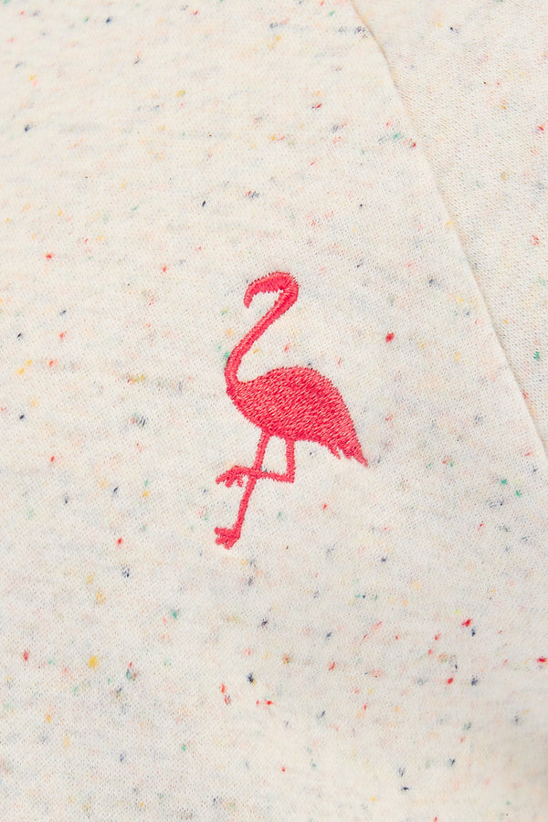 Laurie Speckle Flamingo Sweatshirt