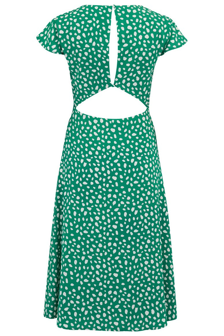 Xanthe Painterly Spot Midi Dress #WearAndCare