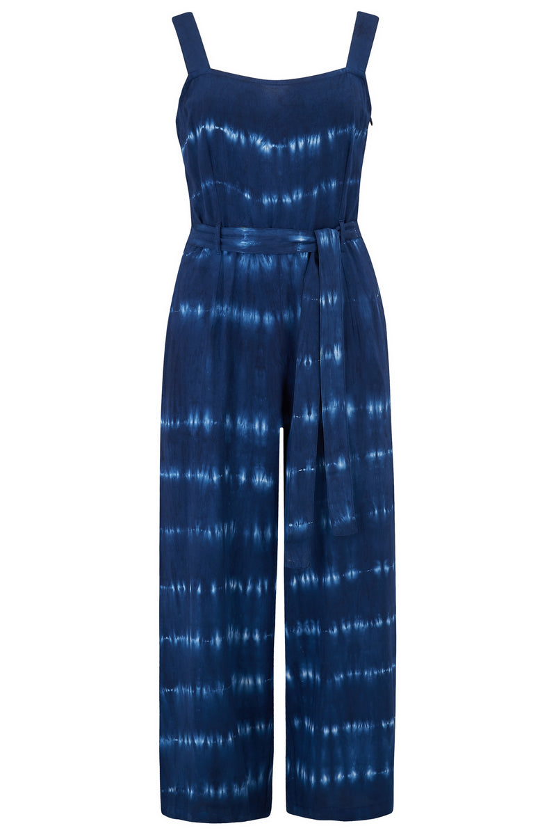 Millie Nautical Tie Dye Cropped Jumpsuit