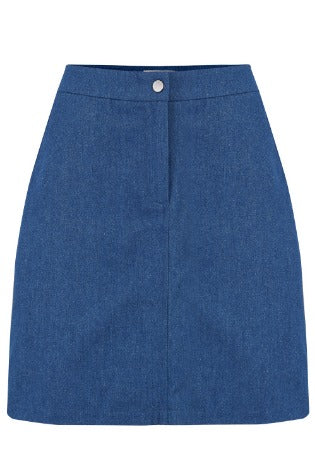 Ayra Chambray A-line Skirt