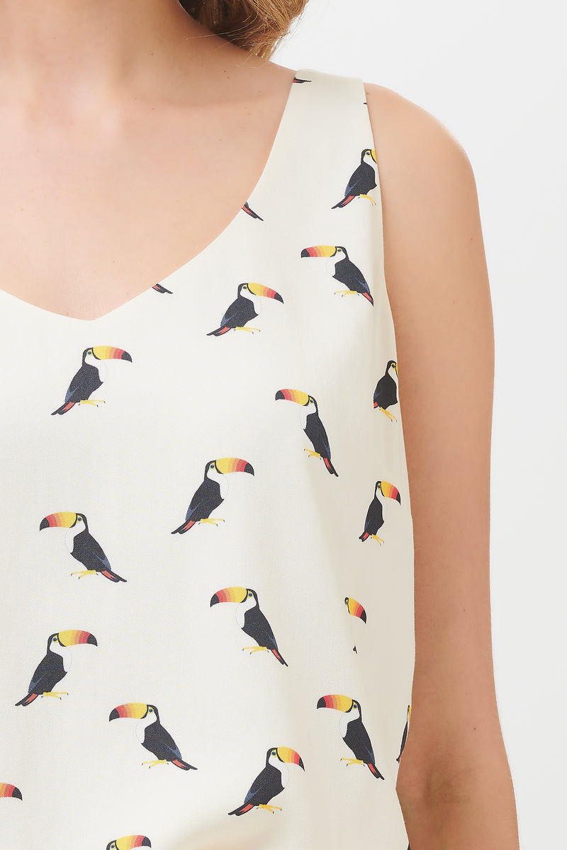 Romy Rainbow Toucan Strappy Top #WearAndCare